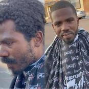 La beauté de ce sans-abri fait sensation et force de l'admiration pour le coiffeur