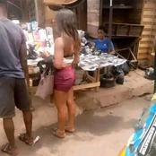 Beautiful Lady's dressing causes public outcry at The Market Place
