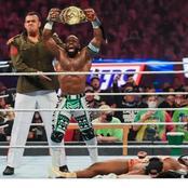Apollo Crews Claims WWE Intercontinental Championship Belt