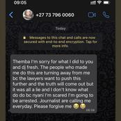 Leaked Whatsapp Message: Victim 'Confesses' She Lied About DJ Euphonik - Mzansi Reacts