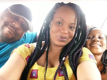 Former Nollywood Actress Maureen Solomon and her family.