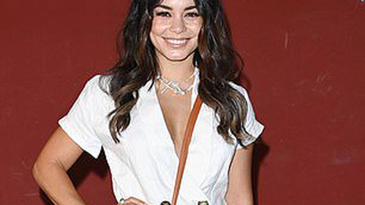 Vanessa Hudgens looks chic in a plunging linen suit while Heather Graham wears a stylish polka dot dress to Filming Italy Festival