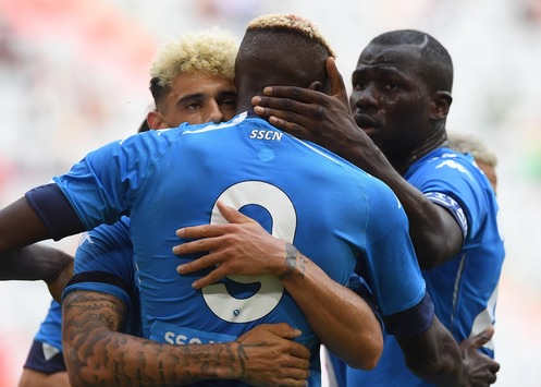Osimhen inspires Napoli with a quick fire brace against Bayern Munich in Alianz Arena