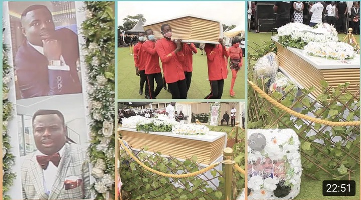 1869ecdc83ec240456ef163df3d43f94?quality=uhq&resize=720 - The Bible Coffin that was used to bury Prophet Seth Frimpong causes stir (Photos)