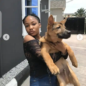 Mofe Duncan, Chris Okagbue, others reacted after Angel Unigwe was seen carrying a dog in new photos