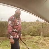 What's Up! President Uhuru Kenyatta Was Spotted Footing Along A Highway [VIDEO]