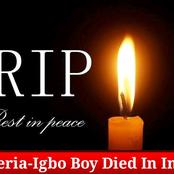 The 33yr-old Igbo Boy That Die In India See What The Police Confirmed That Killed Him