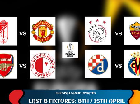 UEFA Europa League Quarter-Finals: Check Out The First-Leg Fixtures