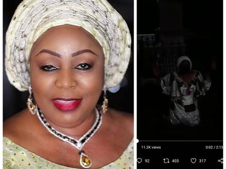 'I know we have wronged you, But please forgive us' - Senator Florence Ita Giwa knees to beg (video)