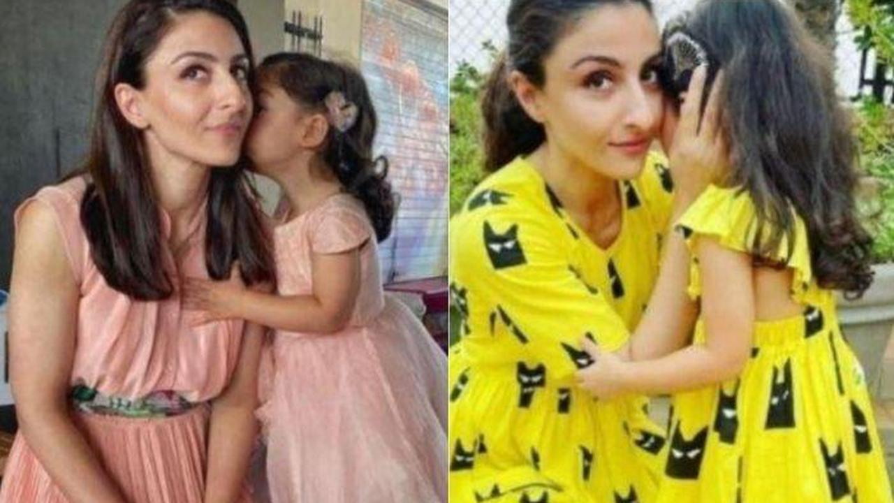 Soha Ali Khan Shares Goofy Photos With Her 'Walking Buddy' Inaaya Naumi Kemmu While Exploring Nature