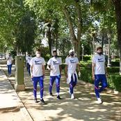 Chelsea Players Seen Taking Photos On The Street Of Spain Ahead Of Porto Game