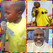Dino Melaye Shares The Moments A Little Boy Was Campaigning For PDP At Event (Photos