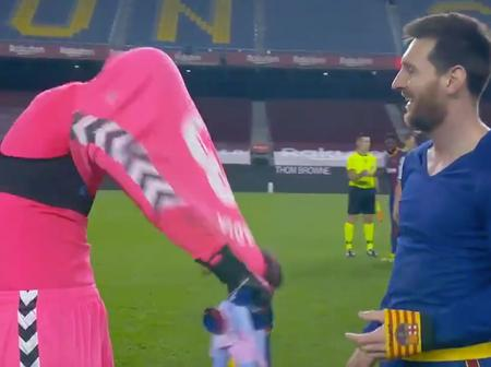 After Barcelona Won, Lionel Messi Asked Him For His Shirt and He Couldn't Believe It
