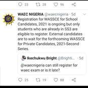 Update For Waec Candidates