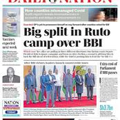 Today's newspaper: Kenyans To Pay Sh3.7bn To New Mps Proposed by BBI, Other Benefits Not Included