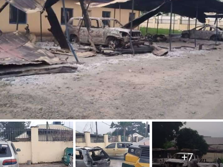 Checkout More Pictures from Police Headquarters Owerri After it Was Blown by Unknown Gunmen