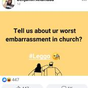 What Is The Most Embarrassing Thing That Has Happened To You In A Church?- Man Asks