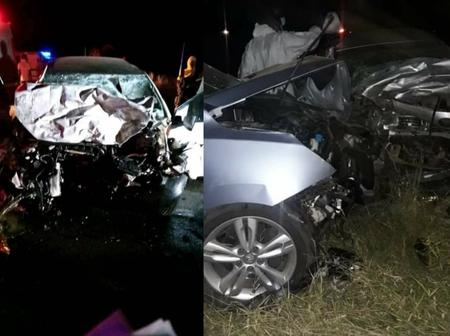 A horrific Car Crash involving VW Polo And Mahindra Suv has been reported 4 people declared dead