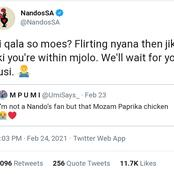 Nandos Has No Chill, See What They Said At 00:03 To A Lady Who Said She's Not A Fan Of Nandos!