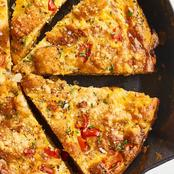 Yummy Potato Frittata! You Can Make This With Your Sweet Potatoes. Check Out Simple Recipe.