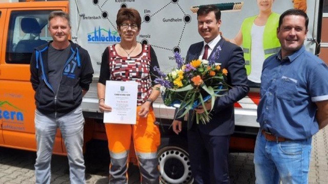 Ilse Knöll ist seit 25 Jahren bei der Stadt Schlüchtern beschäftigt
