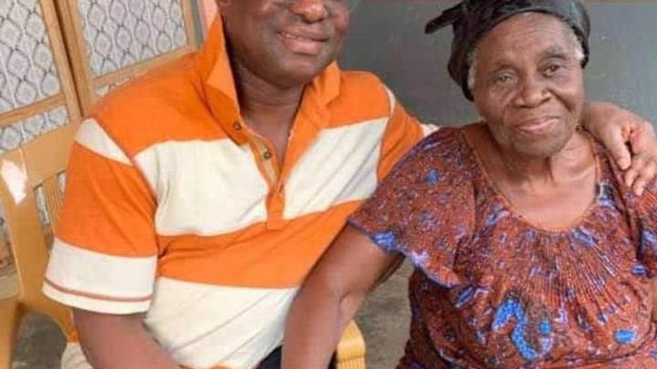 Ghanaians Reacts After Hon. Peter Amewu Show Off His Mother (Photo)