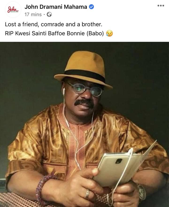 19c33225757f46b1ac24249759f86bf8?quality=uhq&resize=720 - I Have Lost A Friend, Comrade And A Brother - John Mahama Sadly Announces