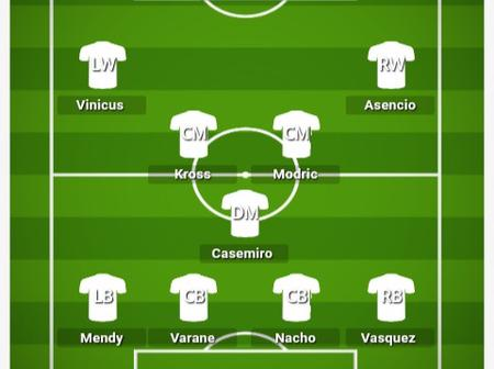 How Real Madrid could Lineup against Valencia and break their defense line.
