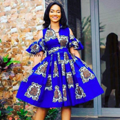 Slay In Blue Ankara Gowns