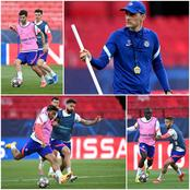 In Spain, See How Serious Chelsea Stars Were In Training As They Prepare To Knockout Porto Tomorrow.