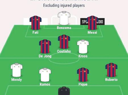 Barcelona Vs Real Madrid: El Clasico Combined Xi For Each Position (Excluding Injured Players)