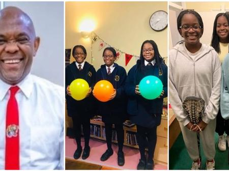 Tony Elumelu shares amazing photo of his triplets daughter on their birthday
