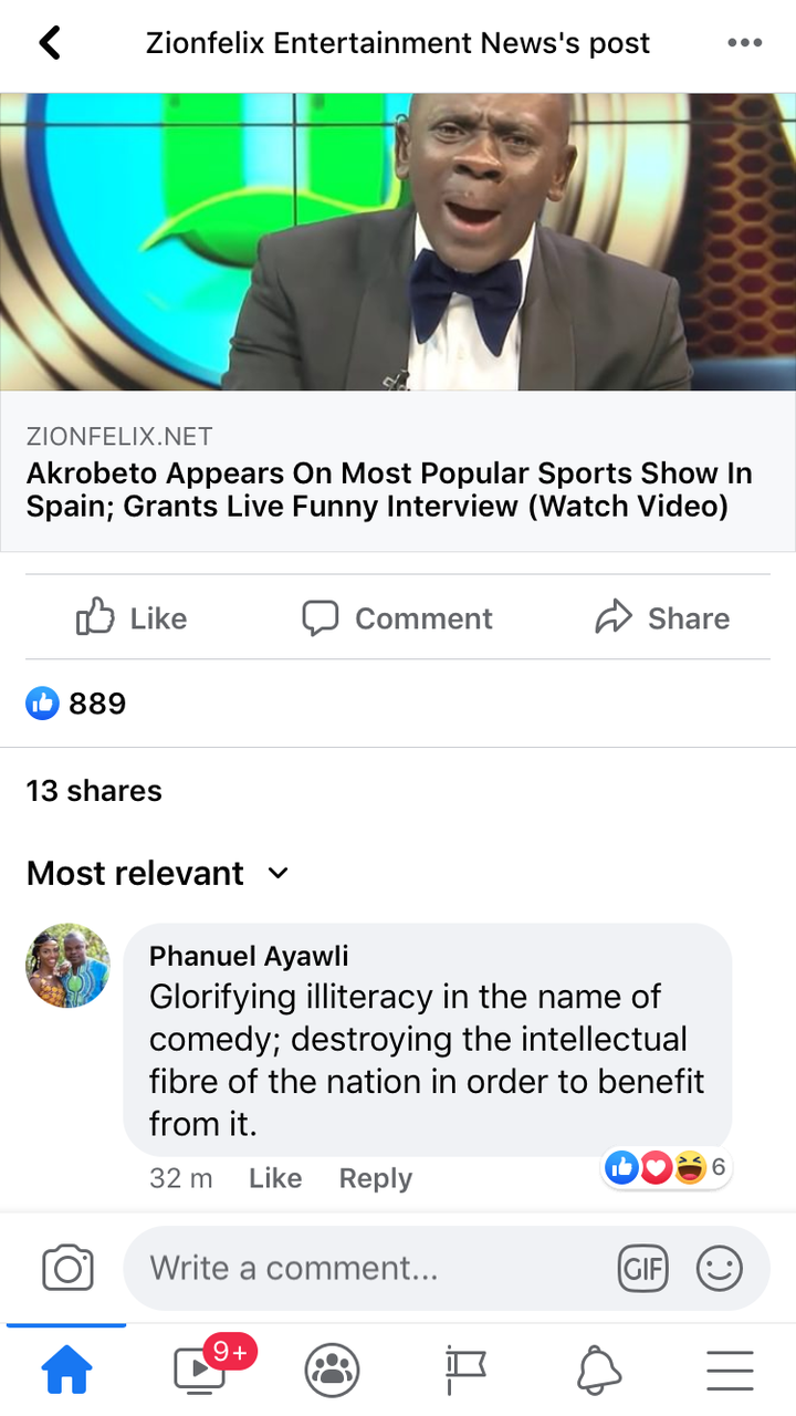 1a5e6be2e8c99a90d37bb41efed1264e?quality=uhq&resize=720 - Glorifying illiteracy, Akrobeto Is Destroying The Intellectual Fibre Of The Nation - Social Media User Laments