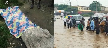 See Why They Shouldn't Have Buried The 19-Year Old Girl Swept By Flood Beside Surulere Canal.