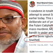See what IPOB leader 'Nnamdi Kanu' says after 'Sunday igboho' was attempted to arrest by DSS.