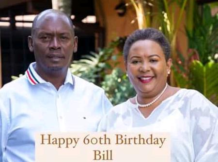 William Kabogo's Wife Pens Down This Lovely Message To Him As He Turns 60 Year Old Today.