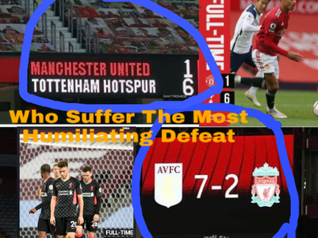 Who Suffer The Most Humilating Defeat Between Manchester United And Liverpool?
