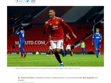 Manchester United Beat Brighton 2-1 To Retain Their Second Position On The Premier League Table