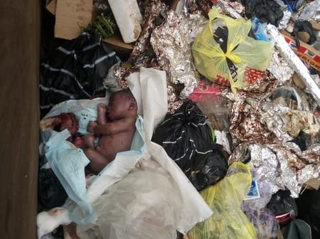 An Infant Baby Dumped Along Jonathan By Pass in The City of Calabar