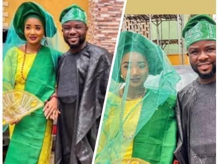 Yoruba Actor, Ibrahim Yekini Shares Lovely Wedding Photos With Popular Actress Toke Jamiu