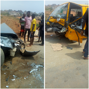 Passengers Cheat Death As Fatal Motor Accident Occur In Anambra(photos)