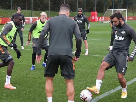 Photos: Manchester United Stars in training ahead of Premier League tie against Tottenham