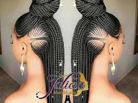 Ladies, Check Out These Eye-Catching Shuku Ghana braid Hairstyle For Beautiful Ladies