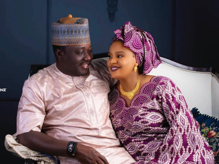 Check Out Beautiful Photos Of Nigerian Actress, Fati Ladan, Her Husband And Children