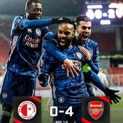After Arsenal Defeated Slavia Prague 4-0, See The Next Team They are Facing In The Europa League