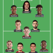 Ahead of Man United's big match against Chelsea, See the combined XI of both clubs.