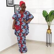 Latest attires: Ankara boubou gown for slay queen