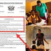 Ghana Education Service Releases Very Important Information For Teachers Promotion Test (Details)