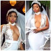 Men, Can You Allow Your Better-half Wear This Wedding Outfit? CheckOut This Wedding Dress Of A Bride