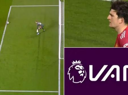 What Manchester United Player Did That Has Left Football Fans Questioning The Credibility Of VAR